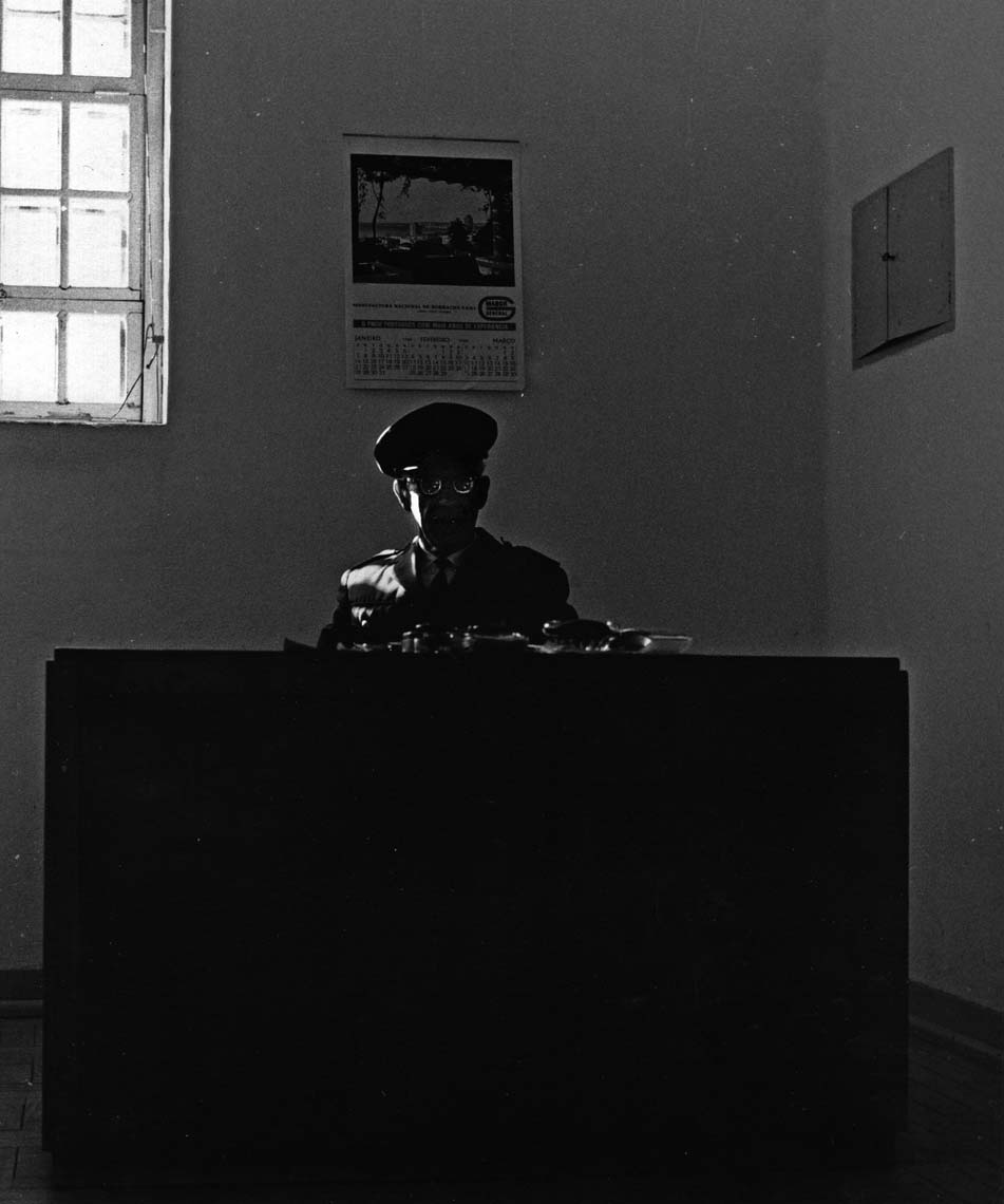GUARD AT DESK