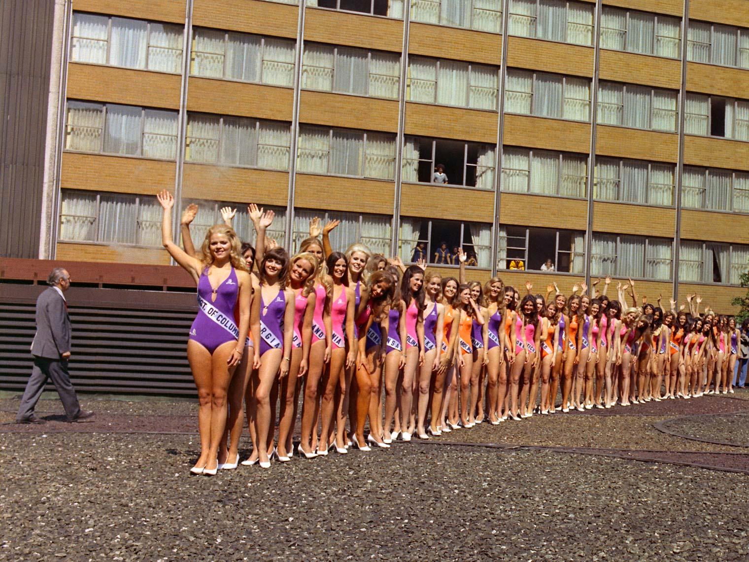 MISS USA CONTESTANTS; AMERICANA HOTEL, NEW YORK, NY