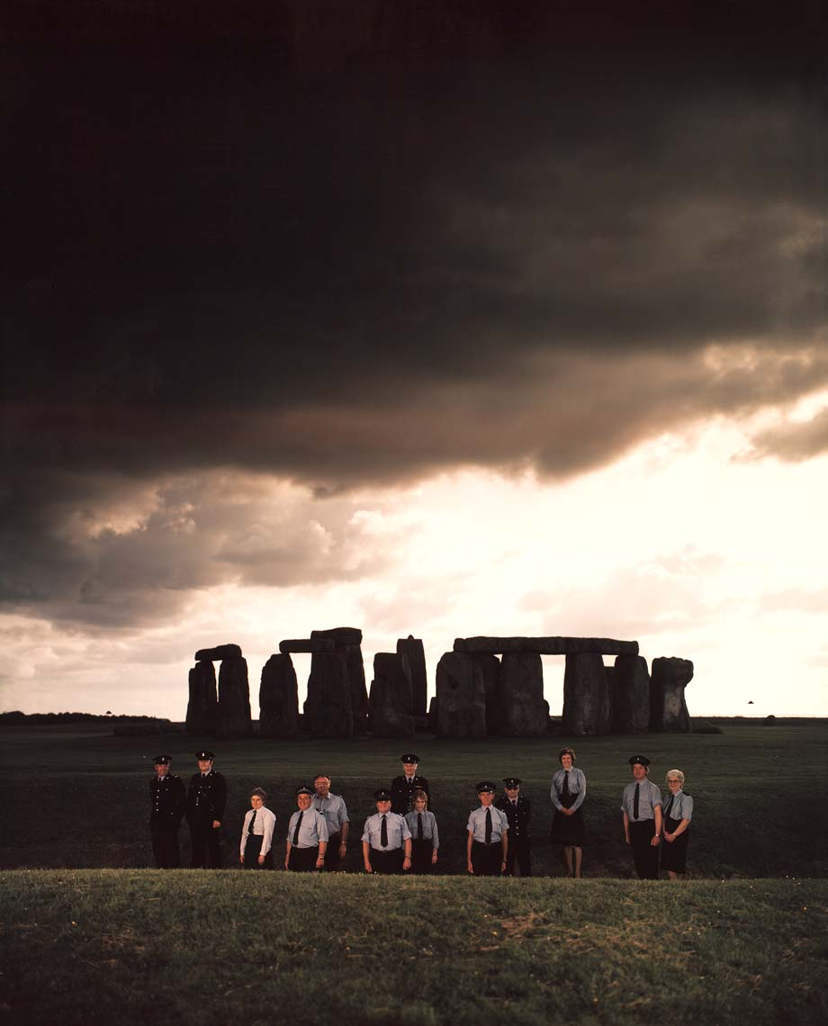 CUSTODIAL STAFF; STONEHENGE ANCIENT MONUMENT, AMESBURY, WILTSHIRE, UK