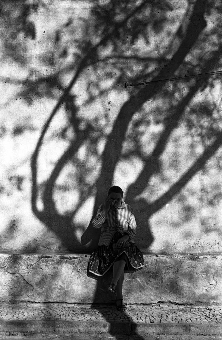WOMAN AND SHADOW; LISBON, PORTUGAL